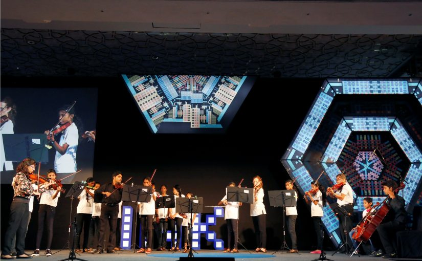 MUSIC FOR THE SOUL: One of the highlights of INK confabulations was an instrumental concert by underprivileged children of Child's Play India Foundation, a Goa-based initiative by founder-director Luis Dias