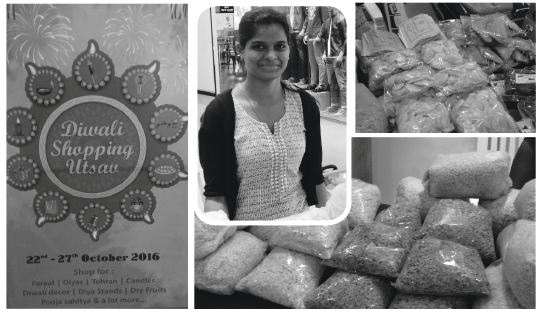 DEEPAVALI POP UP: Shruti Sawant from Porvorim was selling poha white/red/roasted (`40/half kg) at Caculo Mall. It's the season to stock up on fov in Goa, the one useful ingredient which can be converted into several quick-fix snacks
