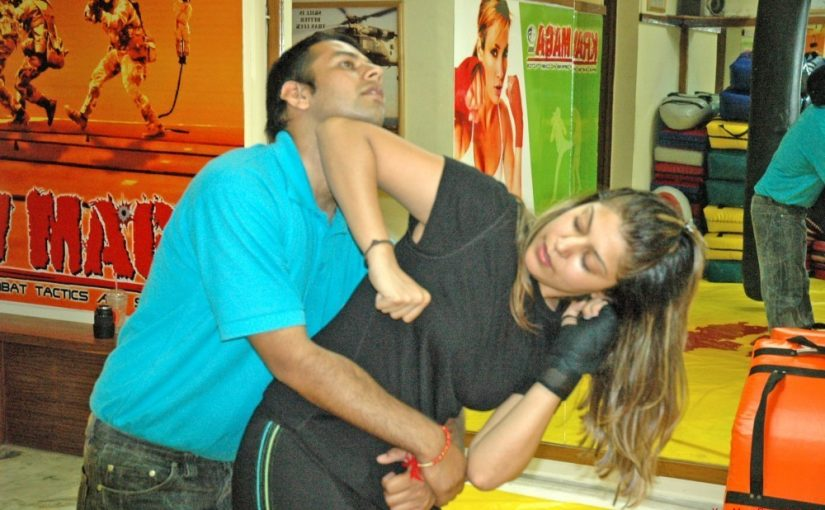 IN SELF-DEFENCE: A krav maga practitioner in action