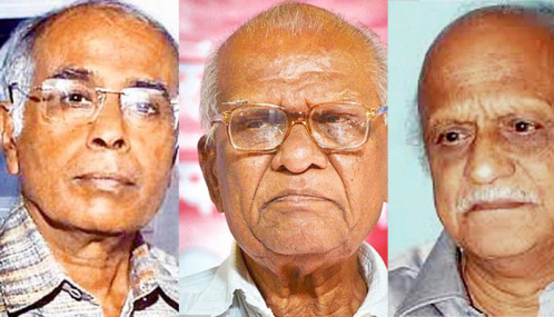 SILENCED: Rationalists Dr Narendra Dabolkar, Govind Pansare and M M Kalburgi were murdered in cold blood by fascist elements