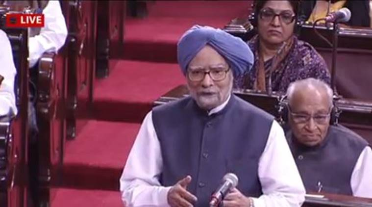 Former prime minister Manmohan Singh during the demonetisation debate. (Source: ANI)