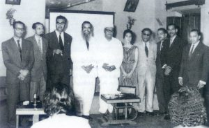 OPPOSITION: Dr Alvaro de Loyolo Furtado ( third from left)formed the United Goans Party in 1963 to counter the growing movement to merge Goa with Maharashtra. UGP members seen here with him included ( L or R) Orlando Lobo, Enio Pimenta, Dr Jack Sequeira ( President), Narcinva Damodar Naik (VP), Urminda Lima Leitao, Vassudev Samalkar, an unidentified gentlement, Dr Luis Proto Barbosa and Dr Maurilio Furtado. Though the UGP lost the first general election, it played a key role in winning the opinion poll four years later.