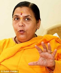 UNREPENTANT: Senior Sangh Parivar leader, Uma Bharti, who is a minister in the Narendra Modi cabinet has also veen charged with crinimal conspiracy in the demolition if the babri Masjid. Unlike advani she has not only admitted to the crime but is proud of it