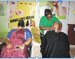 ALL ORGANIC: Complete herbal face clean-ups for ladies at the expo courtesy SSCPL Herbals. Organic beauty products free from paraben is the claim, all in plastic packing though