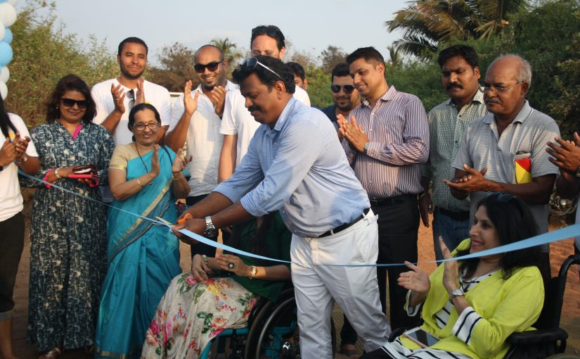 EQUAL ACCESS AT LAST: Calangute MLA Michael Lobo inaugrated the Umoji Beach Fest 2017 at Cabdolim, where different -abled finally got a chance to experience the sea something most of us take for granted!