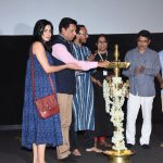 64th National Award-winning Film Festival 2017 in Goa: Chief guests at the inaugural day lighting of the lamp ceremony on May 18, 2017, were celebrated Hindi cinema filmmaker Madhur Bhandarkar (of `Chandni Bar' and `Page 3' fame) and actress Kirti Kulhari (of `Pink' fame) along with ESG's Vice-Chairman Rajendra Talak, ESG's GM, Mrunal Walke, Daulat Hawaldar, and Sachin Chate. The festival is on till June 14 at the Maquinez Palace