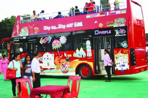 JOYRIDE INVESTMENT: Goa Tourism has acquired a couple of these open air double deckers of tourist rides.