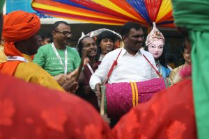 IN THE MOOD: Dhol beats whip up the mood of celebration.