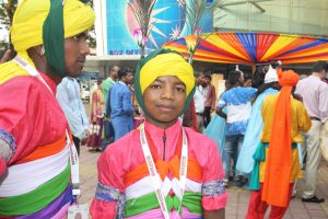 YOUNG TALENT: One of the Chhau dancers at the performance.
