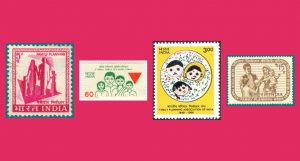 MEMORIES: Most of us will remember these stamps that were released to further enforce the governments push on hum do, humare do