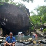 `I HAD A LUCKY ESCAPE!'... at Nagarwadi waterfalls