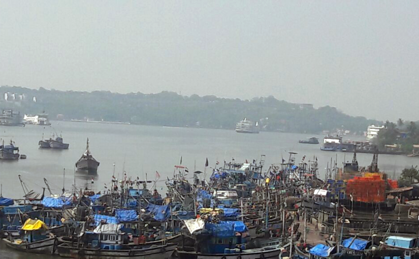 CONGESTION IN RIVER MANDOVI (Citizen's Diary... Stephen Dias)