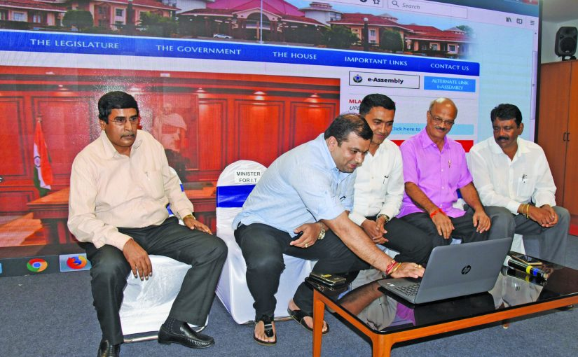 GOA ASSEMBLY WEBSITE LAUNCHED