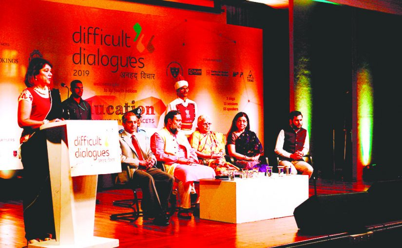 DIFFICULT DIALOGUES OPEN ON GRIM NOTE