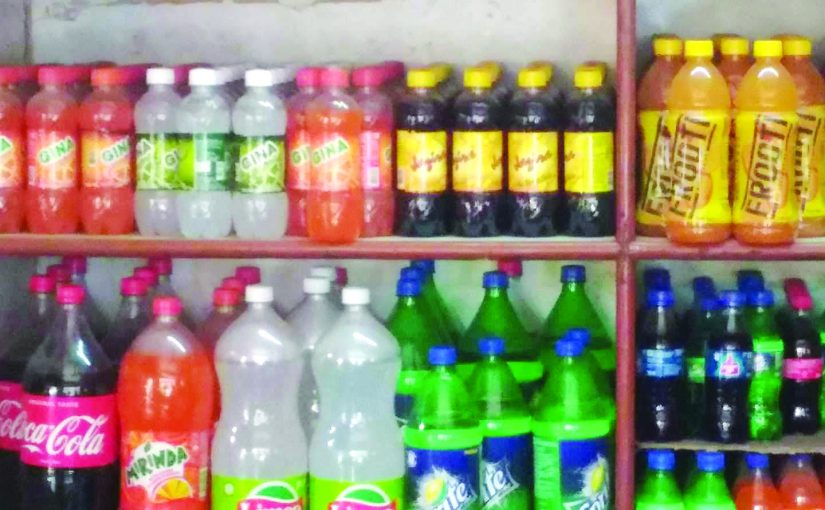 NO WATER TO DRINK, DRINK SUGARY SOFT DRINKS!