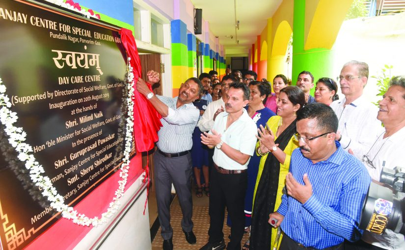 Minister for Social Welfare Inaugurates 'Swayam Day Care Centre at Sanjay Centre for Special Education, Porvorim