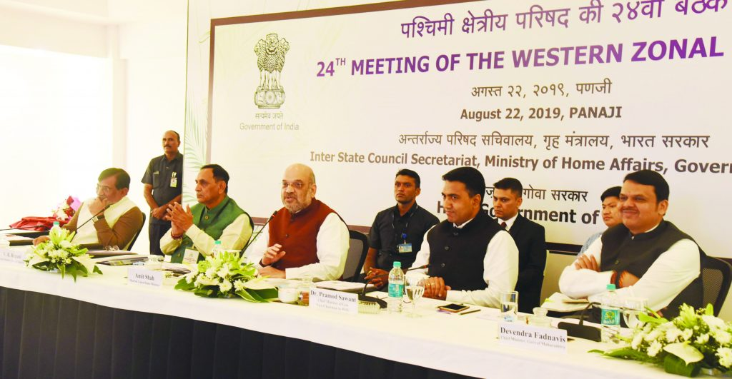 AMIT SHAH IN GOA FOR 24TH MEETING OF THE WESTERN ZONAL COUNCIL