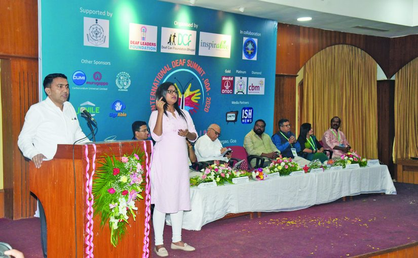 SPECIAL ATTENTION FOR WELFARE OF HEARING IMPAIRED – CM PRAMOD SAWANT