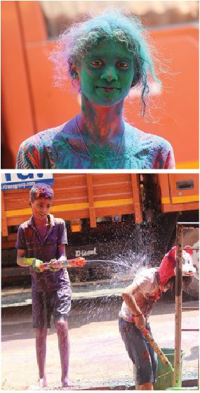 HOLI JOYS IN PANAJI