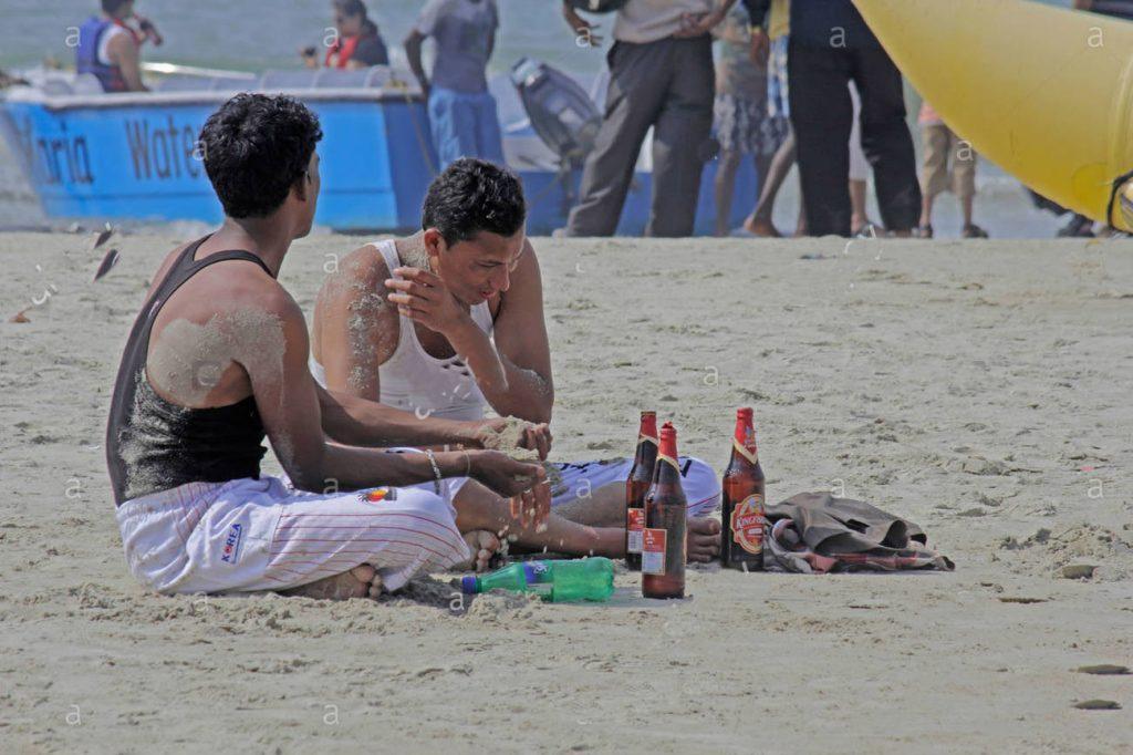 DRINKING ON BEACHES